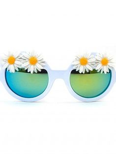 """Women's """"Swan River Daisy"""" Glasses by Gasoline Glamour Sunglasses Accessories, Women Accessories, Inked Shop, Glasses Frames, Mirrored Sunglasses, Clothes For Women, My Style, Swan, Daisy"""