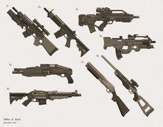 Resultado de imagem para shadowrun pistols