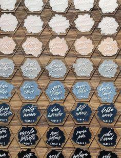 Wedding name cards - 57 Insanely Creative Escort Cards and Seating Displays – Wedding name cards Wedding Crafts, Diy Wedding, Wedding Decorations, Wedding Themes, Rustic Wedding, Nautical Wedding, Wedding Placecard Ideas, Wedding Ideas, Table Wedding