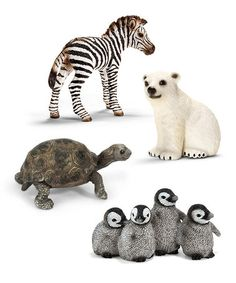 Another great find on #zulily! Young Wildlife Figurine Set by Schleich #zulilyfinds