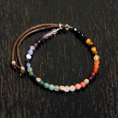 CATHERINE MICHIELS(キャサリンミッシェル)/Rainbow of semi-precious faceted 4mm beads with SS cubes