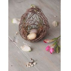A wire nest for Easter by   Fili di poesia