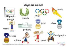 Olympic Word Mat