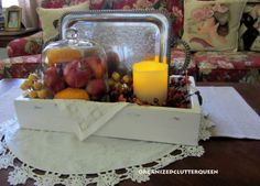 Organized Clutter: An Autumn Coffee Table Vignette