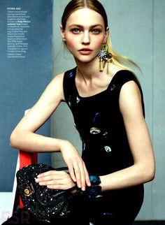 Sasha Pivovarova for Vogue US, July 2014