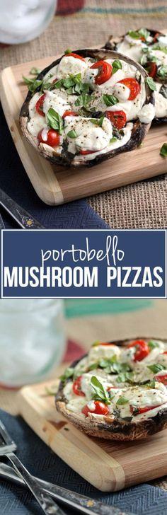 Caprese Portobello Mushroom Pizzas