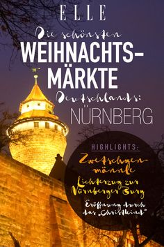 The most beautiful Christmas markets in Germany - Beste Reisetipps 2019 Ritz Crackers, Travel Organization, Germany Travel, Beautiful Christmas, Good To Know, Places To Travel, Most Beautiful, Marketing, Christmas Markets