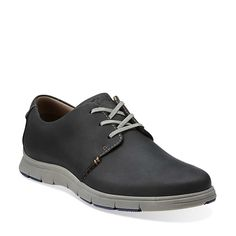 Milloy Vibe in Black Leather - Mens Shoes from Clarks