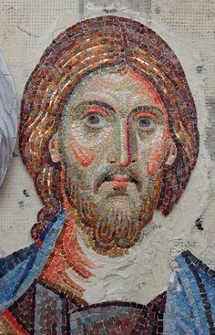 Christ, Mosaic Portrait, Byzantine Art, Religious Images, Orthodox Icons, Mural Art, Mosaic Art, Ikon, Storytelling
