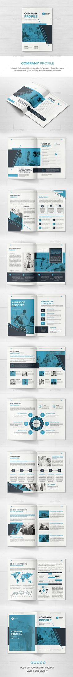 Company Brochure Brochures, Corporate brochure and Brochure template - profile company template