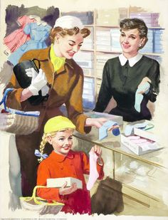 Shopping with Mother ~ Ladybird Books, 1958