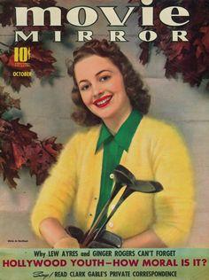 Movie Mirror, October 1939 : Olivia de Havilland