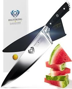 The DALSTRONG Chef Knife – Gladiator Series – is an outstanding craftsmanship of incredibly razor sharp high carbon German Steel. Best Chefs Knife, Best Kitchen Knives, Chef Knife Set, Knife Sets, Fancy Kitchens, Best Hunting Knives, Specialty Knives, Knife Sharpening, Knives