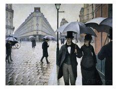 Paris, En regnig dag - Gicleetryck av Gustave Caillebotte på AllPosters.se