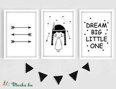 Keretezett skandináv falikép sorozat / babaszoba dekoráció (3 db) 20x30-as méretben (MesesGyerekszoba) - Meska.hu Big Little, Dream Big, Nursery, Home Decor, Decoration Home, Room Decor, Baby Room, Child Room, Home Interior Design