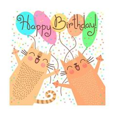 Cute Happy Birthday with Funny KittensBy Baksiabat - Happy Birthday Funny - Funny Birthday meme - - Art Print: Cute Happy Birthday with Funny Kittens by Baksiabat : The post Cute Happy Birthday with Funny KittensBy Baksiabat appeared first on Gag Dad. Happy Birthday Best Friend, Cute Happy Birthday, Happy Birthday Quotes, Happy Birthday Images, Happy Birthday Greetings, Funny Birthday, Birthday Wishes, Birthday Kitten, Birthday Ideas