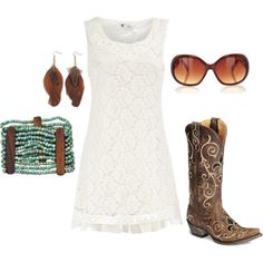 Summer Cowgirl, created by kristenmichelle2012 on Polyvore