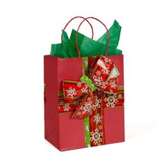Gift bag decorated with packaging tape