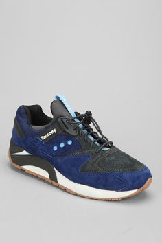 Saucony Grid 9000 Speed Lace Sneaker blue
