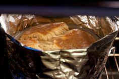 Julia Child's Cheese Souffle, in the oven.  By BS' in the Kitchen http://bsinthekitchen.com/cheese-souffle/