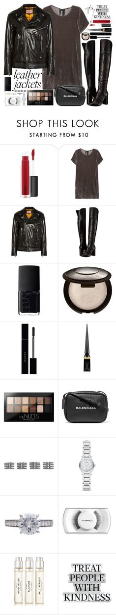 """""""Be careful okay?"""" by carolsposito ❤ liked on Polyvore featuring John Lewis, Madewell, Gucci, Joie, NARS Cosmetics, Christian Louboutin, Maybelline, Balenciaga, Maison Margiela and Burberry"""