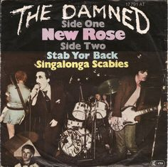 "The Damned - New Rose [1977, Stiff Records 17791 AT │Germany] - 7""/45 vinyl record"