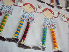 """""""Pippi Lollylegs"""" party favours (detail)"""