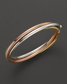 Roberto Coin 18K Yellow, Rose & White Gold Classic Bangle | Bloomingdale's