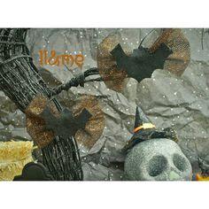Tulle and felt bat bow hair clip set Halloween goth by LouLeeAndMe