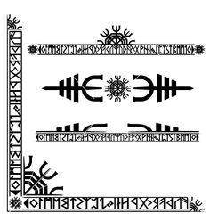 Viking runic corner design vector 10795 - by Spondicious on VectorStock®