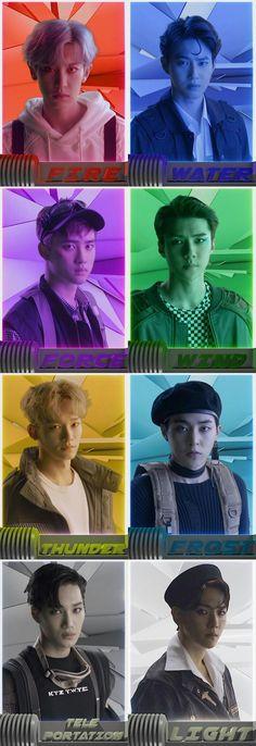 Exo sehun xiumin chanyeol beakhyun kai chen d.o lay Chanyeol Baekhyun, Exo Kai, Park Chanyeol, Kokobop Exo, Exo Ot12, Chanbaek, K Pop, Mundo Musical, Exo Album