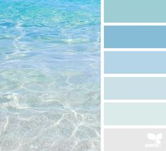 Escape Could be beautiful to base a house color palette off of ocean colors.Could be beautiful to base a house color palette off of ocean colors. Coastal Colors, Ocean Colors, Ocean Color Palette, Beachy Colors, Summer Colour Palette, Blue Colour Palette, Coastal Decor, Interior Paint Colors, Paint Colors For Home