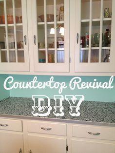 DIY Countertop Revival...a good idea till Missy can get new new counter tops !