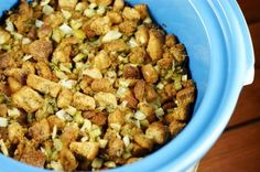 Slow Cooker Stuffing {or Dressing ... or whatever you call it!} - The Kitchen is My Playground