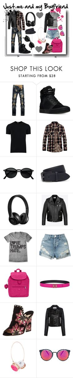 """Just me and my Boyfriend"" by kelly-floramoon-legg ❤ liked on Polyvore featuring Supra, Dolce&Gabbana, Lacoste, Beats by Dr. Dre, Yves Saint Laurent, 3x1, Kipling, Loewe, Jimmy Choo and IRO"