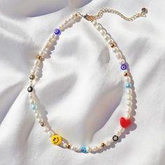 Trendy Necklaces, Trendy Jewelry, Cute Jewelry, Jewlery, Funky Jewelry, Craft Jewelry, How To Make Necklaces, Jewelry Accessories, Summer Necklace
