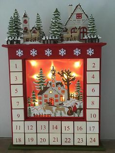 LED lit Wooden Advent Calendar with drawers. Make the age-old ritual of the advent calendar part of your loved ones cherished Christmas memories with this charming wooden keepsake. The possibilities are endless for how you can fill the little drawers of this wonderful christmas