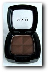 """Mac's Down Brown dupe: NYX Dark Brown. Every makeup geek should have a matte brown eyeshadow in her/his collection. Although the title says """"dark brown,"""" I would consider this a medium shade. This is great for any daytime look or for putting in the crease to tone down brighter colors on the lid. It is comparable to MAC's """"Down Brown"""" eyeshadow"""