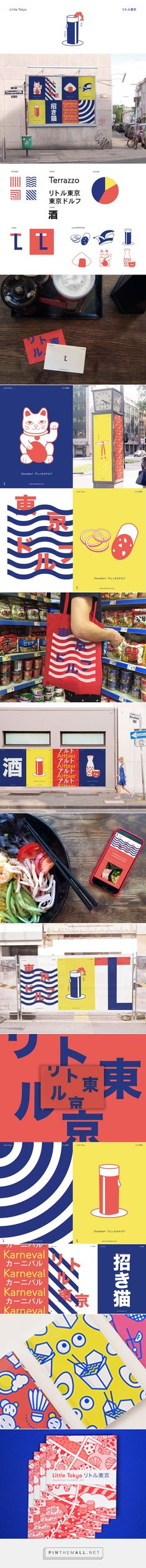 Identity for Düsseldorf's Japanese quarter on Behance. - a grouped images picture - Pin Them All Brand Identity Design, Graphic Design Branding, Corporate Design, Packaging Design, Logo Design, Corporate Identity, Visual Identity, Japanese Branding, Restaurant Logo