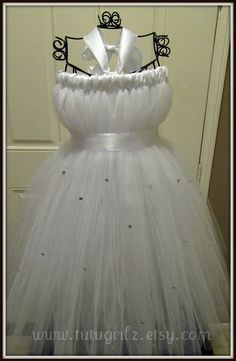 Classic Flower Girl Tutu Dress with by Prettytimesthree on Etsy, $50.00
