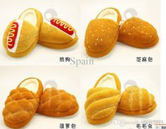 2017 Novelty Items 4design Soft Plush Bread Shoes Home Warm Bread Slippers From Blkjx2015, $26.11   Dhgate.Com