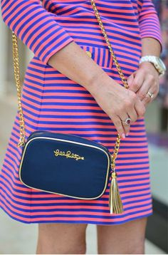 Lilly Pulitzer Cross Town Clutch styled by @Caitlin C.