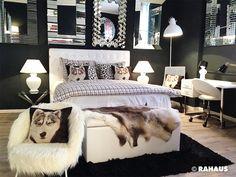 Gemüttlich & Kuschlig #RAHAUS #Schlafen #Bett #Schrank #Schlafzimmer #sleepingroom #Interior #Design #Teppich #Leuchte #Lampe #Nachttisch #Berlin #Möbel #Matratze #Spiegel #Schreibtisch #Stehleuchte #Kissen #Truhe #Aufbewahrung #Sessel www.rahaus.de