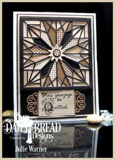handmade card: Quilted Joy FS479 by justwritedesigns  ... Flourished Star intricate die cut block ... neutral colors ...
