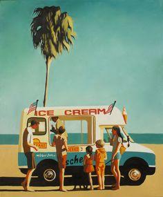 Emilie Arnoux - Elim - Artist-Painter Beach#Surf#lifestyle#Summer#Truck#Icecream# Palm#familly#life#Art#Painting#Tiki#California#Miami