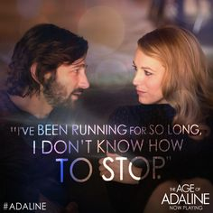 This weekend, stop running. Give into ❤️‍.  Get #Adaline tickets: lions.gt/adalinetix