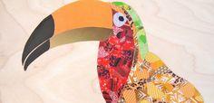 Bright Toucan Collage. $14.00, via Etsy.