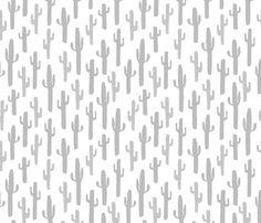 Cactus - Slate by Andrea Lauren  fabric by andrea_lauren on Spoonflower - custom…