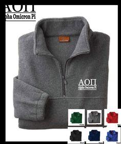Alpha Omicron Pi // A O Pi // Sorority Embroidered Fleece