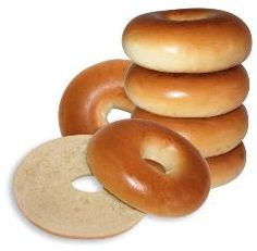 Always New York Bagels ~ Plain Bagels, distributed by Soft Stuff Distributors Plain Bagel, New York Bagel, Bagels, Bread, Food, Brot, Essen, Baking, Meals